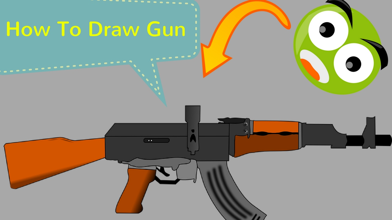 1280x720 How To Draw Gun How To Draw Guns Step By Step Only For Kids