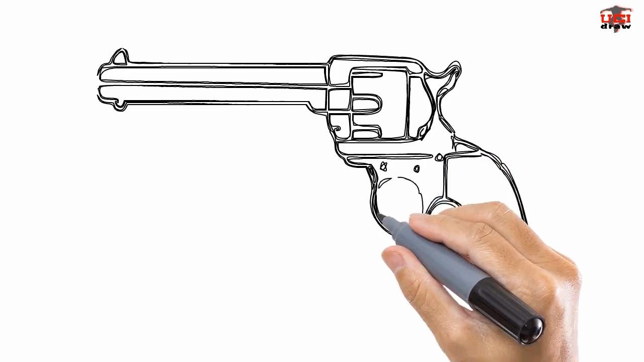 1280x720 How To Draw A Gun Easy Drawing Step By Step Tutorials For Kids