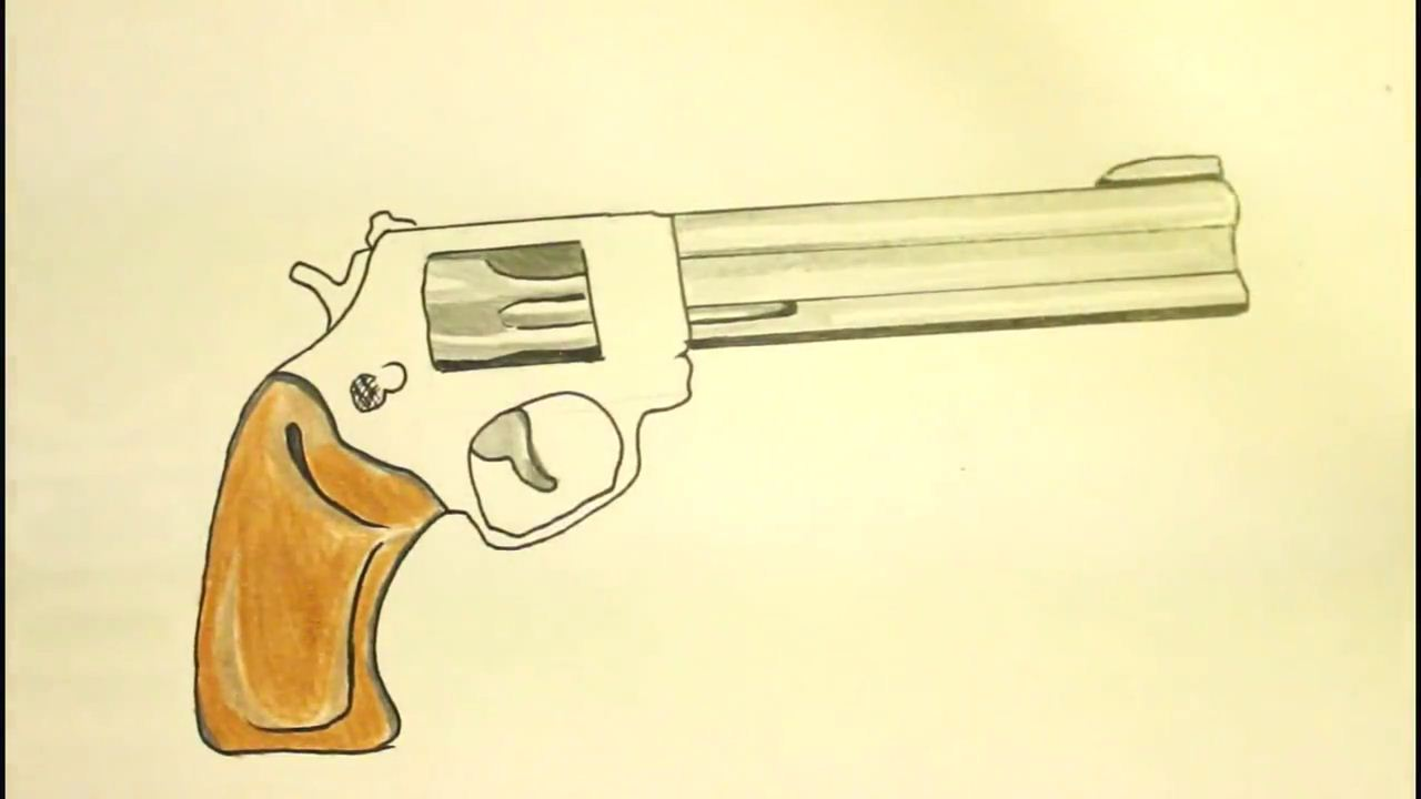 1280x720 How To Draw Revolver Step By Step