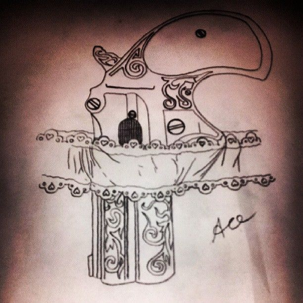 Gun Tattoo Drawing at GetDrawings.com | Free for personal use Gun ...