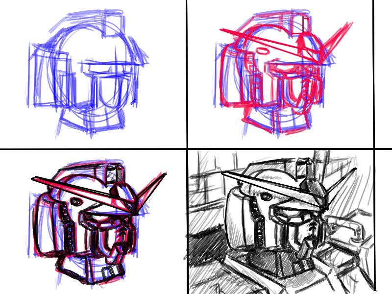 800x600 Basic Gundam Head By V2buster