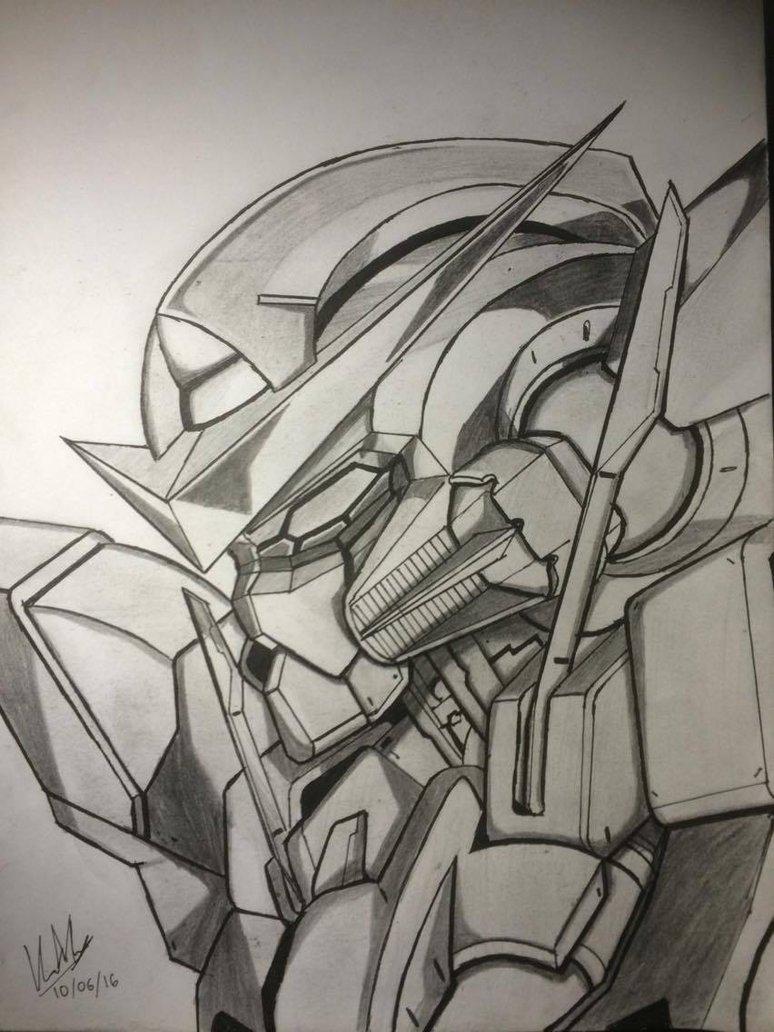 774x1032 Gundam Exia Drawing By Crimsonk3y