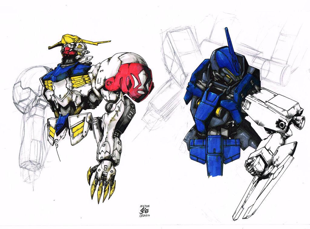 1024x755 Gundam Ibo Practice Drawings ) By Jesterretsej