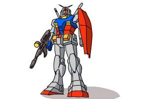 300x200 How To Draw A Gundam