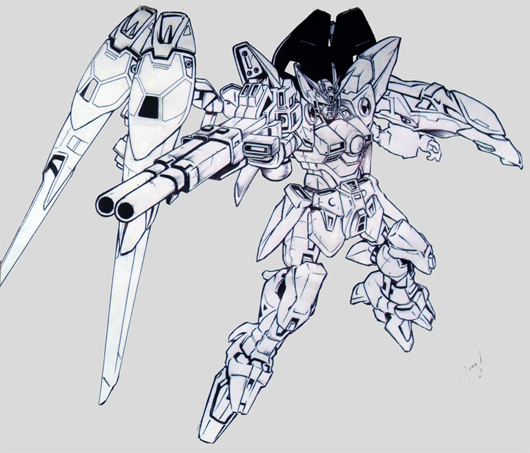 768x656 Wing Gundam Zero By Huue
