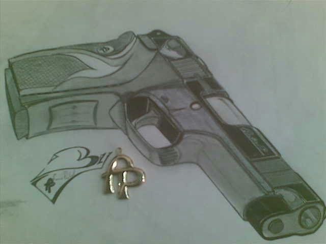 640x480 9mm Gun Designed By F.phaladi F.p''s Drawings
