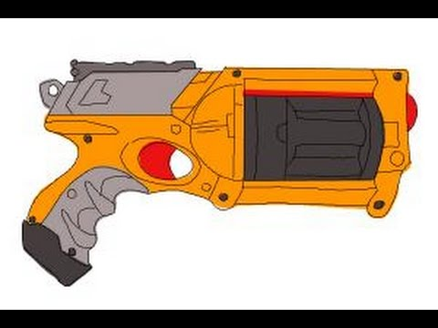 480x360 How To Draw A Nerf Gun