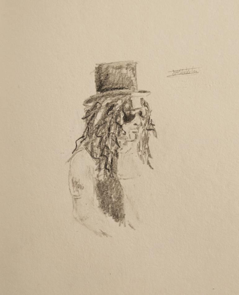 770x951 Saatchi Art Slash Guns N Roses Drawing By Jade Blakeley