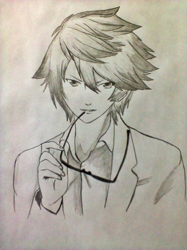 768x1024 Boy Anime Drawings Boy Anime Drawings In Pencil Cool Guy Drawing