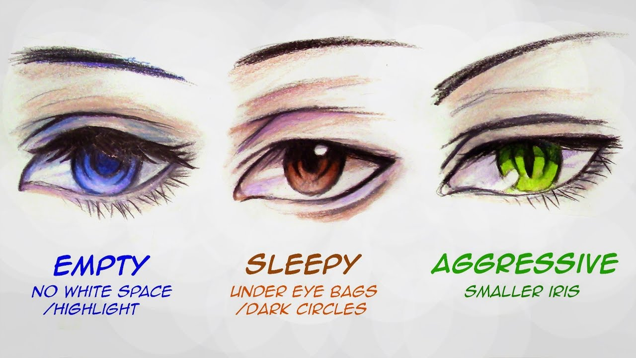 1280x720 How To Draw Male Anime Eyes In 3 Ways