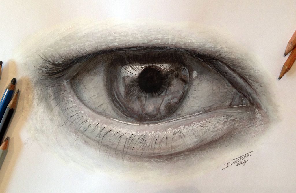1024x669 Pencil Eye Drawing By Atomiccircus