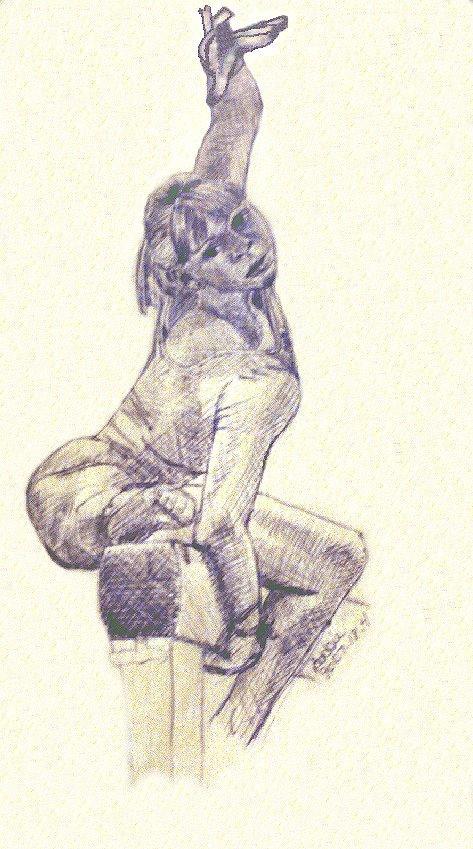 473x849 Drawing Of A Gymnast