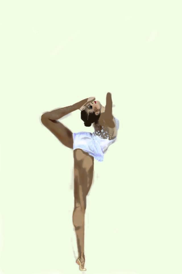 640x960 Drawing Of Gymnastic Rhythmic