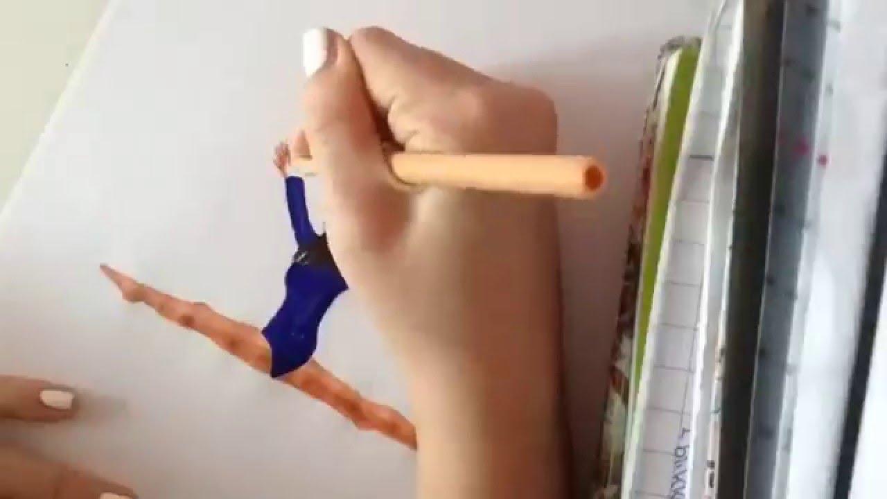 1280x720 How To Draw A Gymnast 2 (Easy)