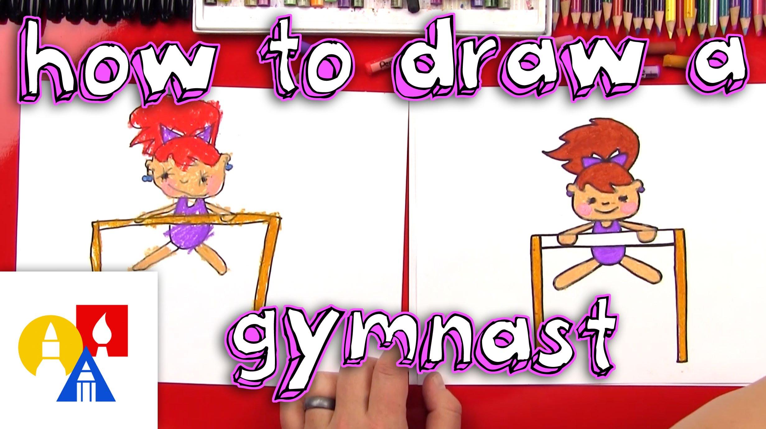 2463x1381 How To Draw A Cartoon Gymnast