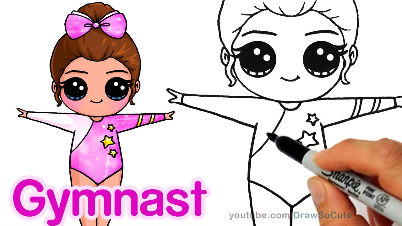 1280x720 How To Draw A Cute Gymnast Step By Step Easy Chibi