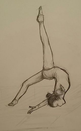 320x518 how to draw a gymnast on a beam drawing tutorial âœâœ§ doodle
