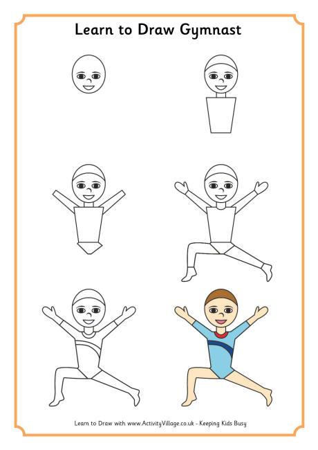 460x650 Learn To Draw A Gymnast 1