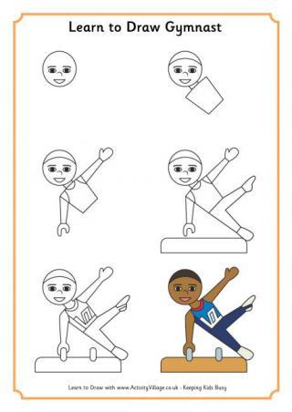 320x452 Learn To Draw A Gymnast 2 Gracie Rocks! Gymnasts