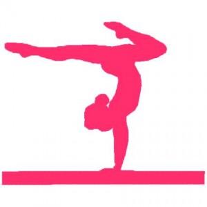 300x300 Simple Silhouette Gymnastics Girl Gymnastics Meet Treat Ideas