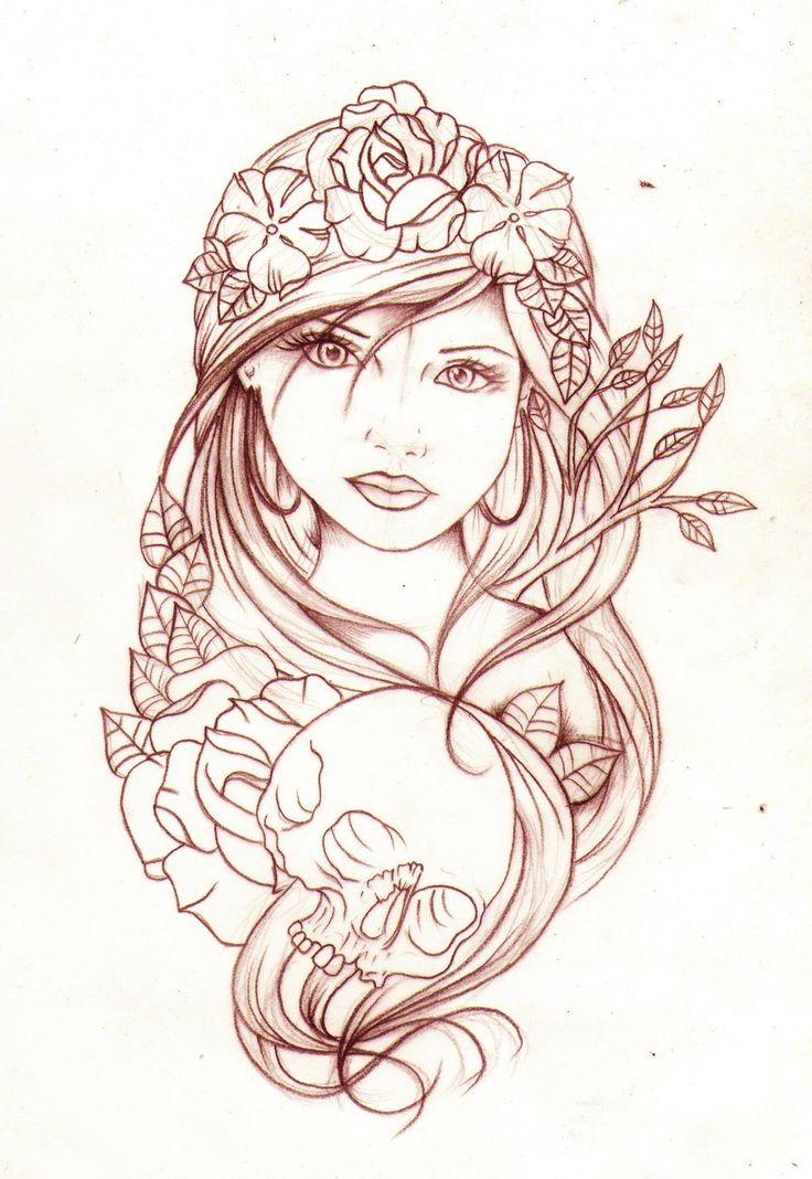 736x1068 4cc9a0f8ccefe356fc6c86095bcb1a24 Gypsy Tattoos Gypsy Woman Tattoo