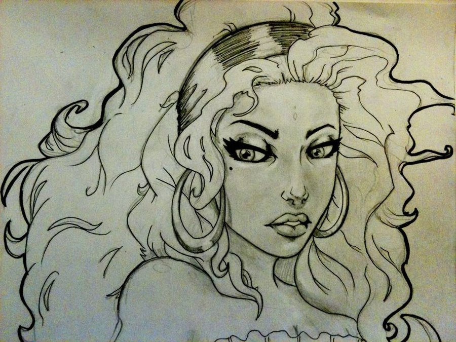 Line Drawing Face Woman : Gypsy woman drawing at getdrawings free for personal use