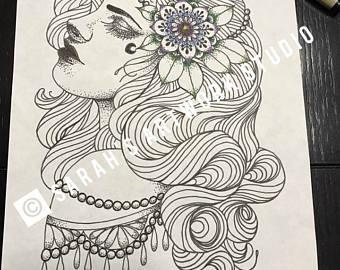340x270 Gypsy Illustration Etsy