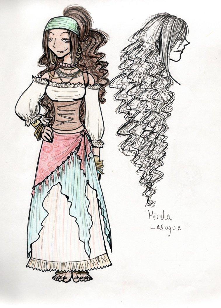 757x1055 Gypsy Woman By Mindlessthing