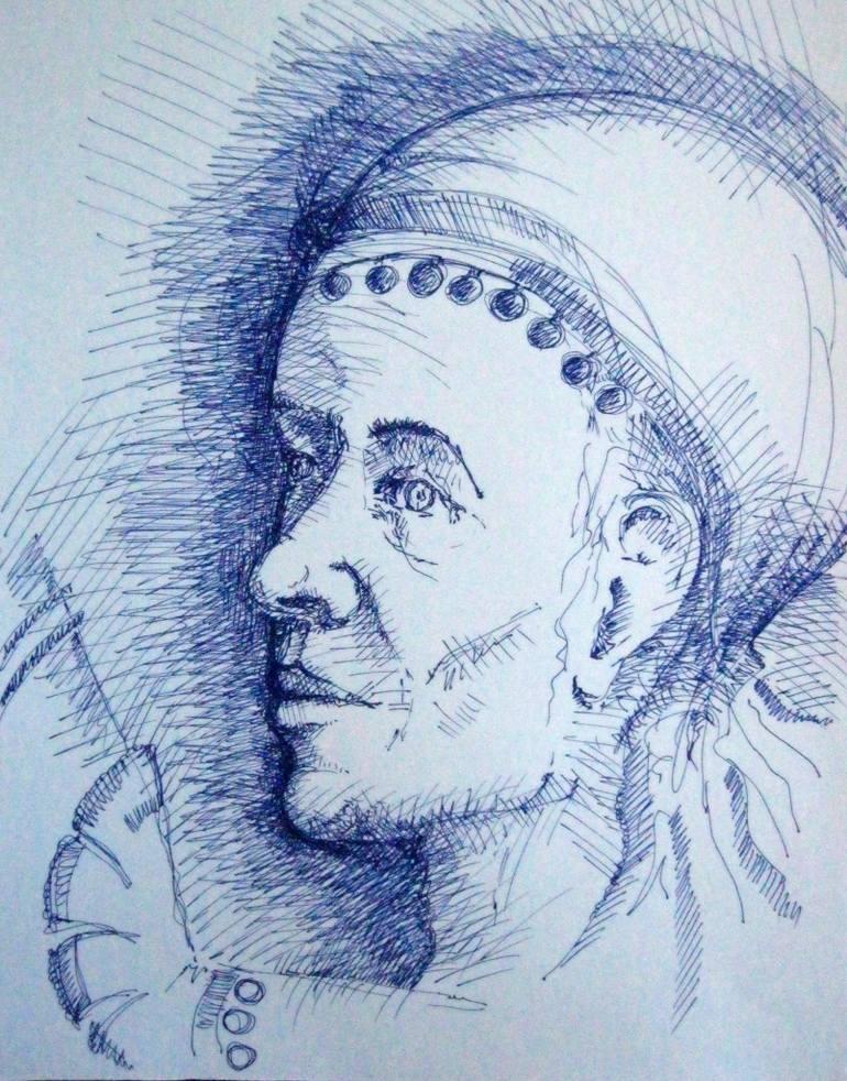 770x982 Saatchi Art Gypsy Woman Drawing By Vesela Tzvetkova