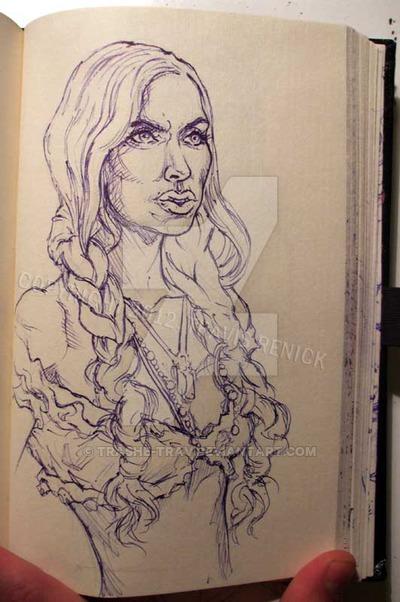 400x602 Sketch Bk. Gypsy Woman By Trashe Trav