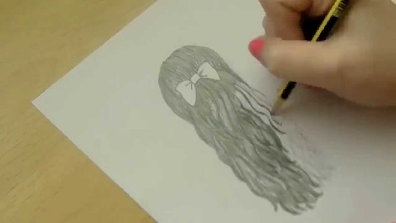 1280x720 Drawing Tutorial How To Draw A Bow In Curly And Straight Hair