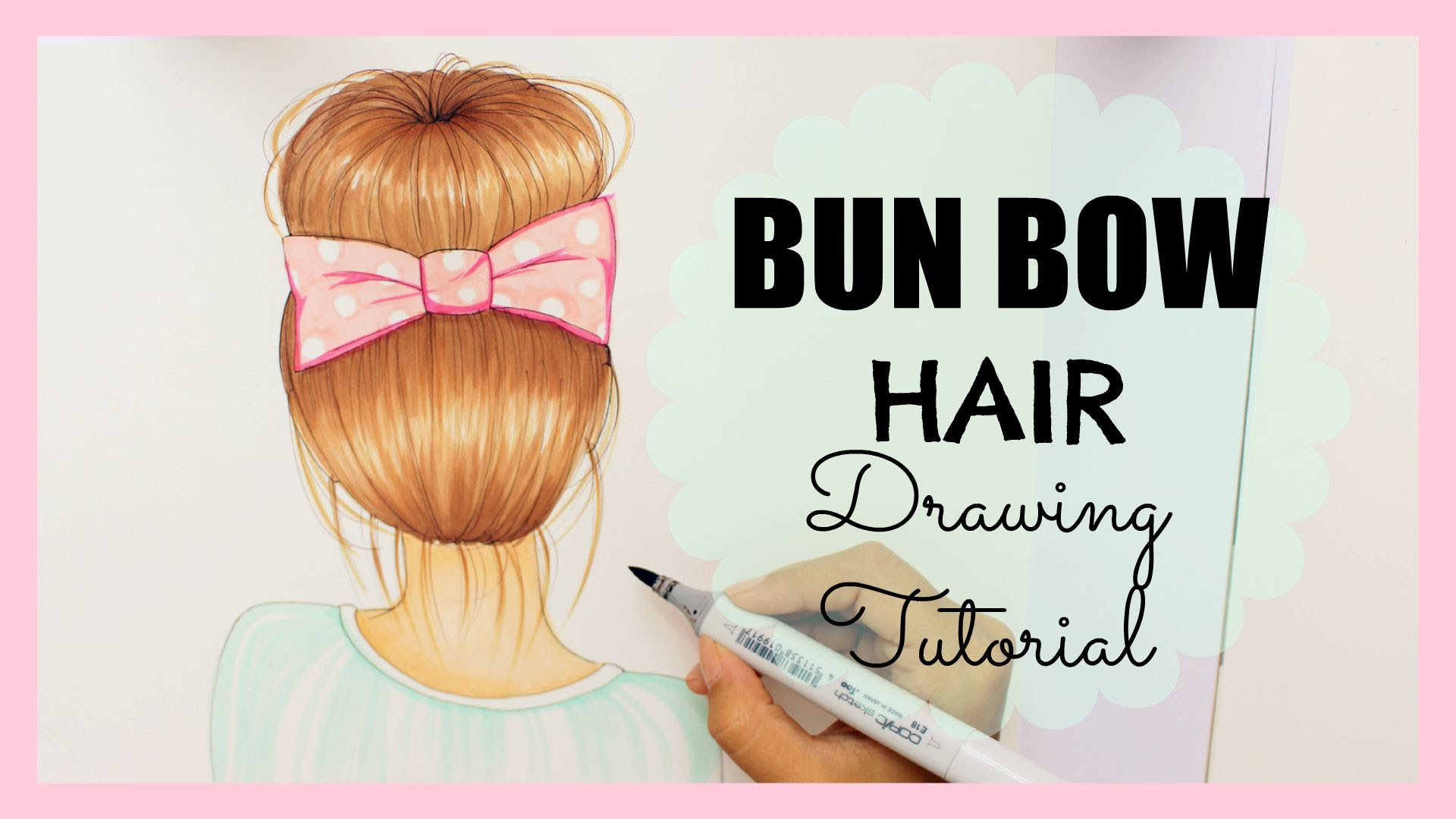 1920x1080 Drawing Tutorial How To Draw And Color Bun Bow Hair