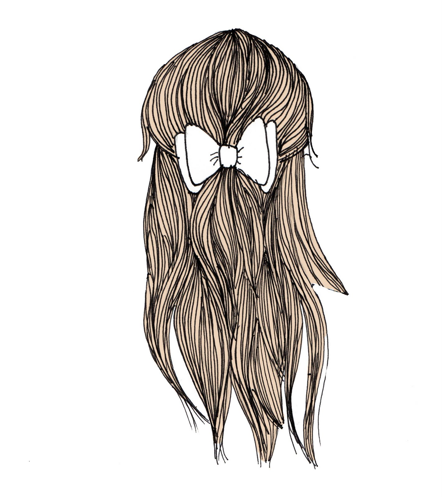 1422x1600 I Can'T Think Of A Cool Blog Title Drawing Hair