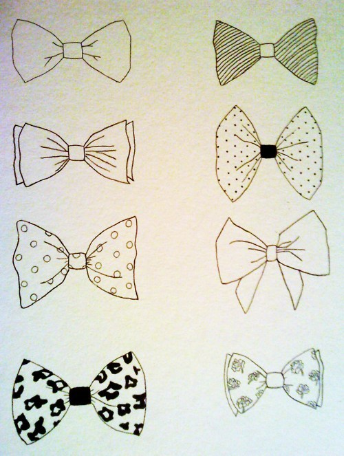 500x663 Bow Tie Drawings. Bow Tattoos Drawings, Doodles
