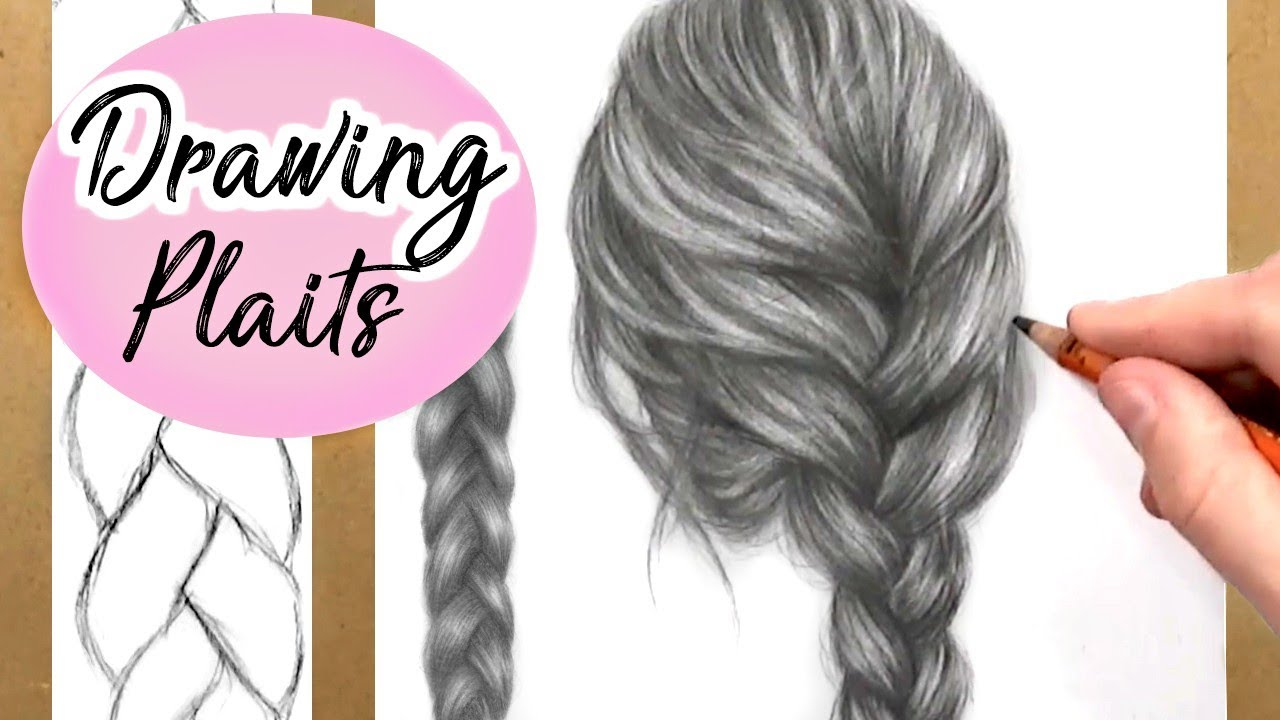1280x720 How To Draw A Plait Braid Hair Drawing Tutorial Step By Step