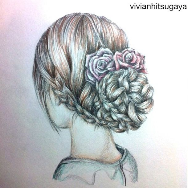 610x610 How To Draw Hair Braids Beautiful, Braid, Drawing, Girl