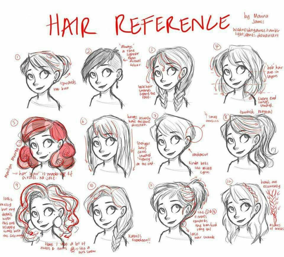 960x870 Cartoon Hair Reference Dibujo Cartoon Hair, Hair