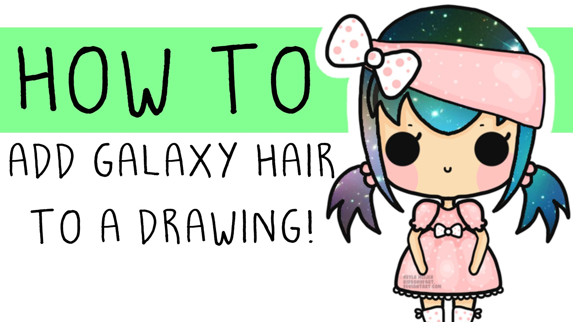 1920x1080 How To Add Galaxy Hair To A Drawing