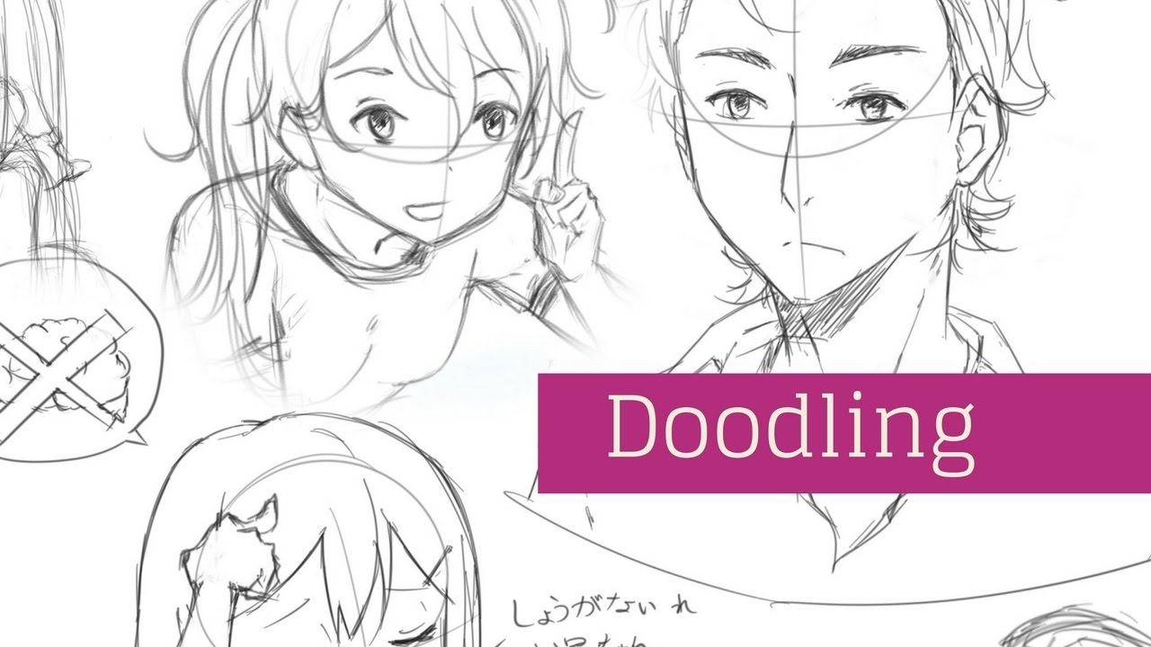 1280x720 Visual Tutorial Drawing And Doodling Different Mangaanime People