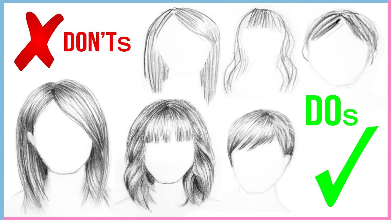 1280x720 Dos Amp Don'Ts How To Draw Realistic Hair Easy For Beginners Step