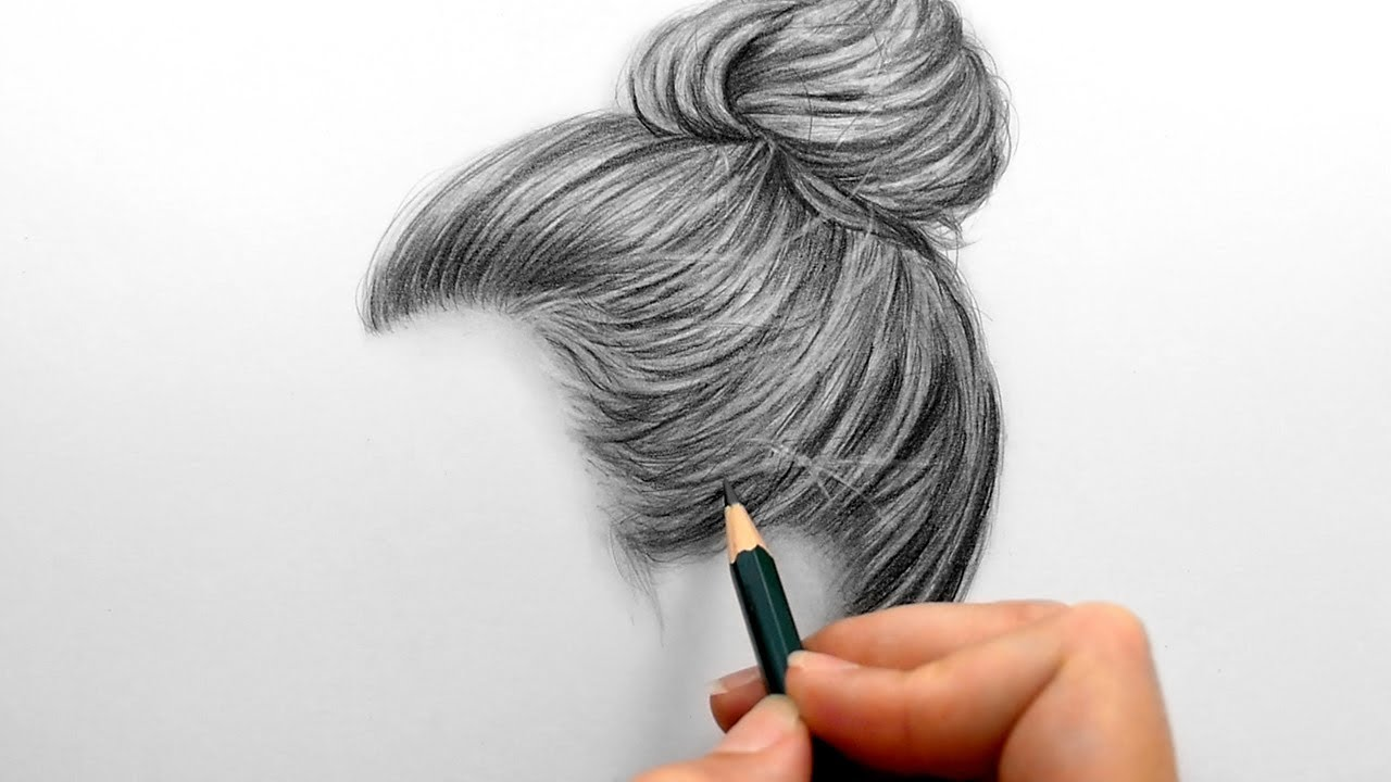 1280x720 Drawing And Shading A Realistic Hair Bun With Graphite Pencils