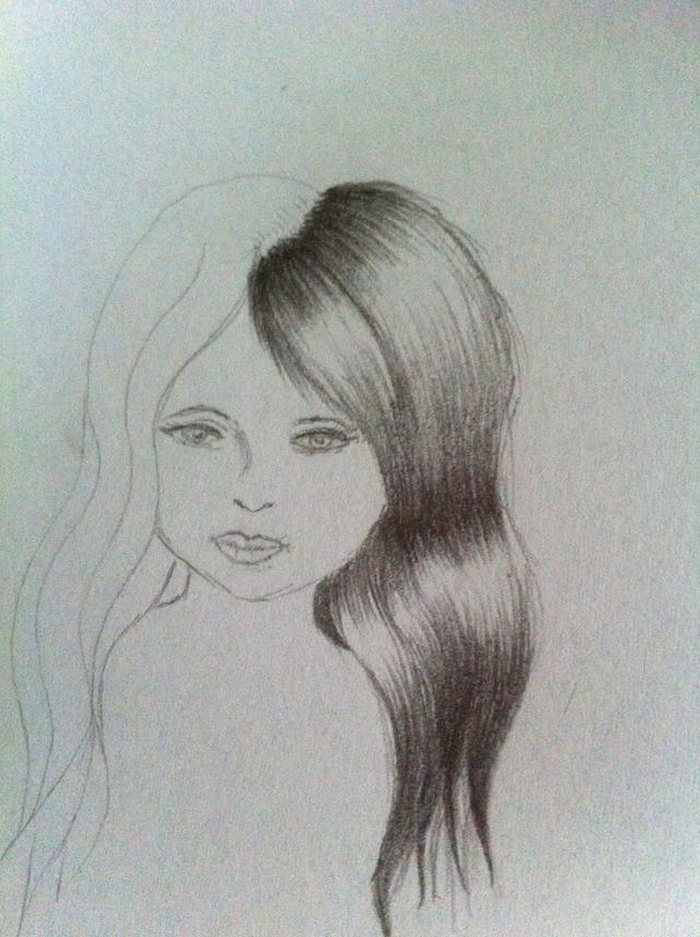 640x857 How To Draw And Shade Hair