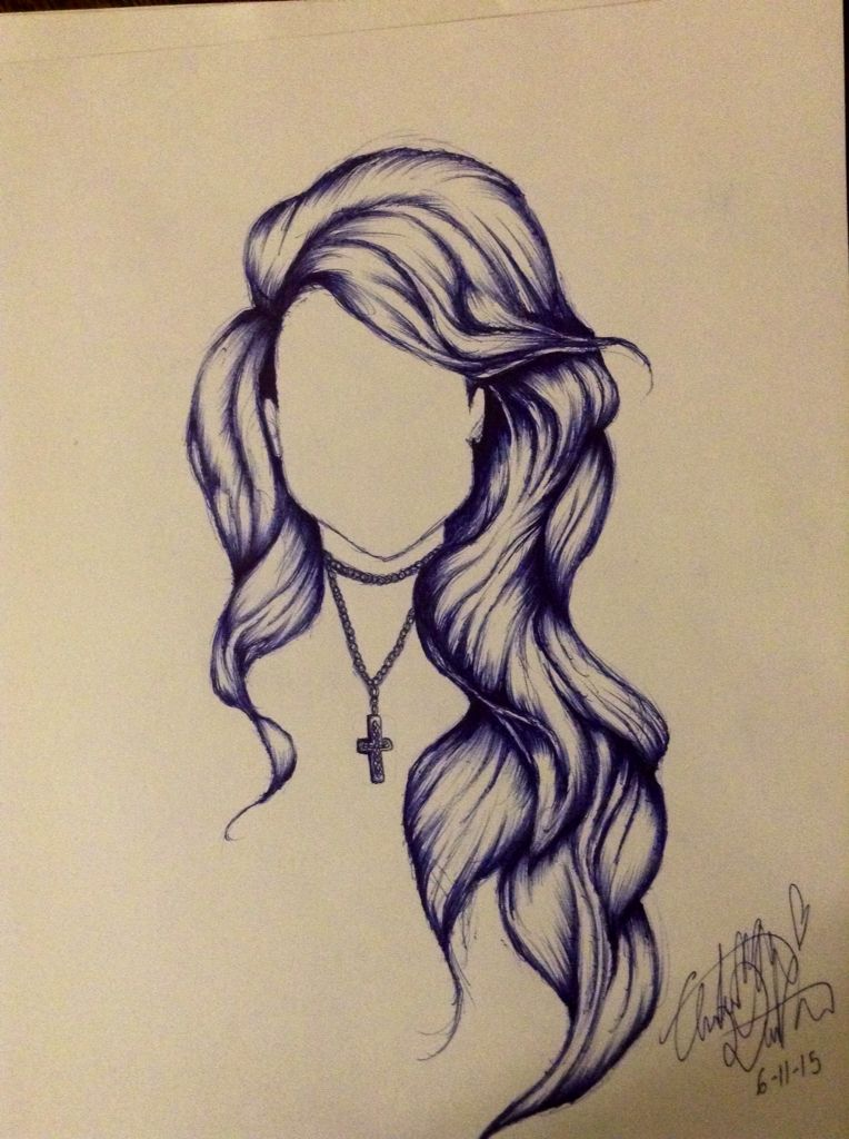 764x1024 Pen Drawing Hair. Art Drawing Hair. Sketch Hair. Hair Sketch. Hair