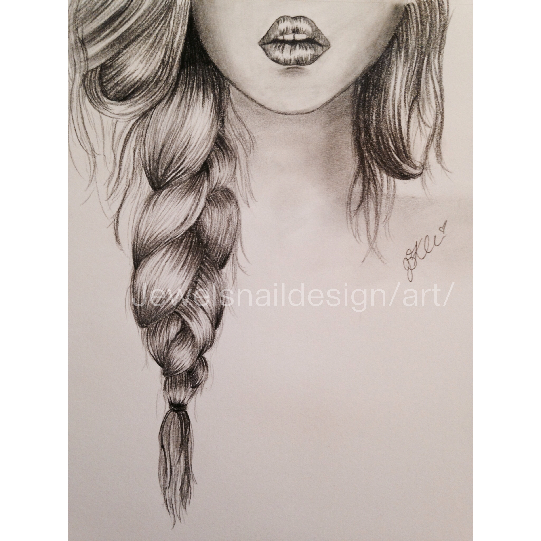 hair pencil drawing at getdrawings free download