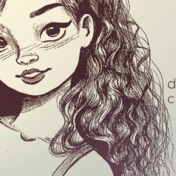 250x250 Curly Hair Drawing, Pencil, Sketch, Colorful, Realistic Art Images