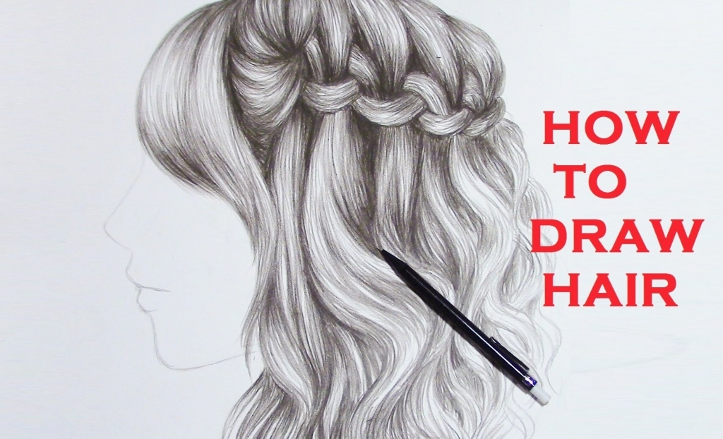 1024x622 drawing curly hair pencil drawing braid curly hair realistic