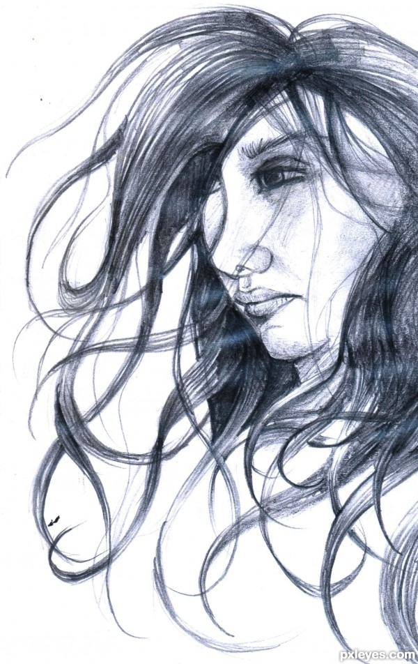 600x952 How To Draw Realistic Hair With A Pencil
