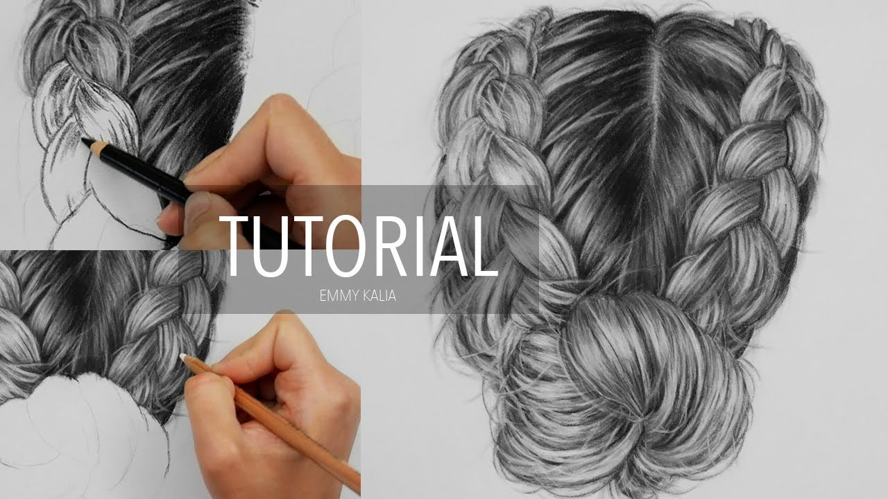 1280x720 How To Draw Realistic Hair With Charcoal And White Pastel Pencil