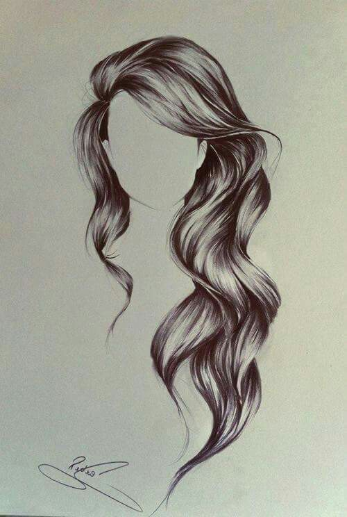 500x744 pencil drawing of hair artsy stuff pinterest drawings