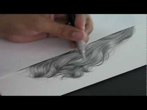 480x360 tutorial drawing hiperrealistic hair in pencil